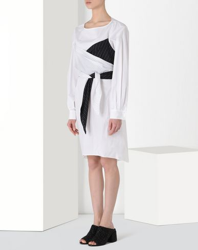 MM6 MAISON MARGIELA Robe courte D Robe en coton avec superpositions f
