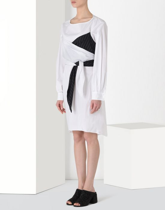 MM6 MAISON MARGIELA Layered cotton dress Short dress [*** pickupInStoreShipping_info ***] f