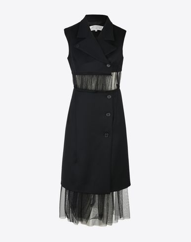MAISON MARGIELA 3/4 length dress D Cut-out wool dress f