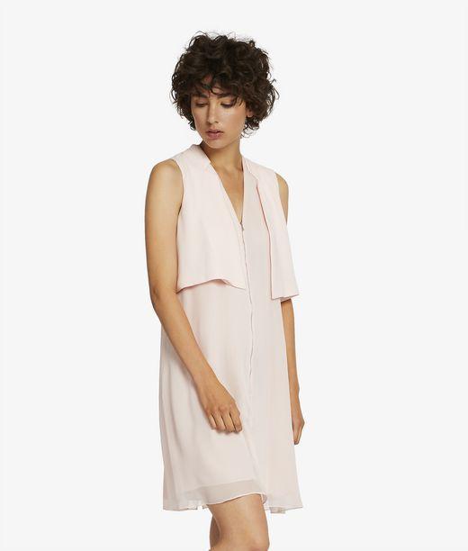 KARL LAGERFELD Sleeveless Tuxedo Dress 12_f