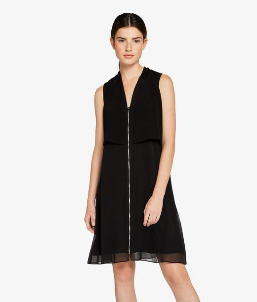 KARL LAGERFELD Sleeveless Tuxedo Dress 12_f