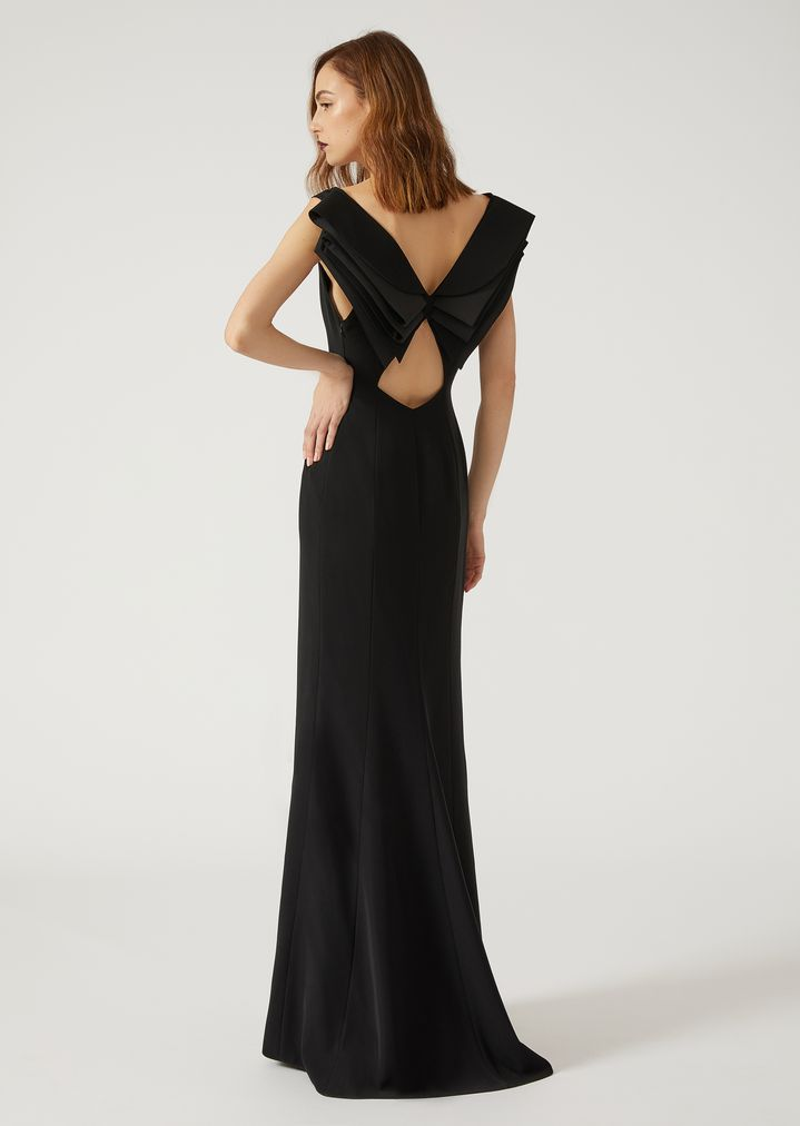 Dress with flounces at the back | Woman | Emporio Armani