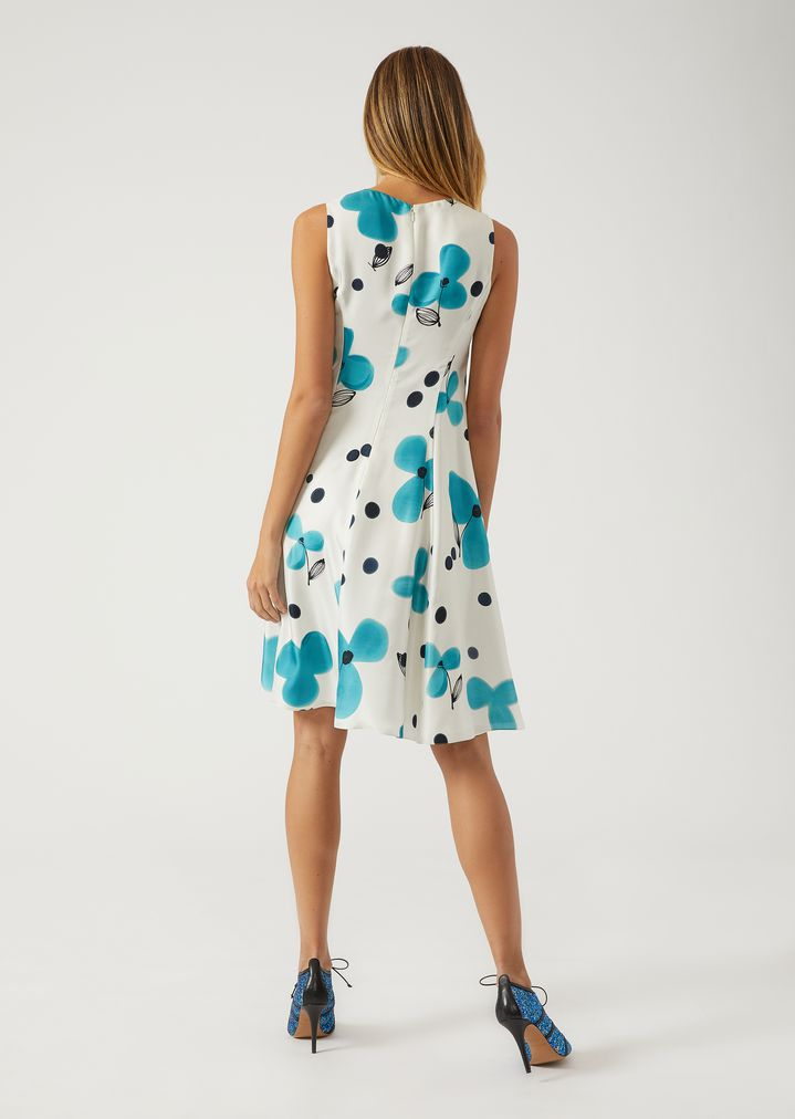 Robe turquoise a fleur