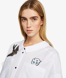 KARL LAGERFELD CAPTAIN KARL PATCH SHIRT DRESS