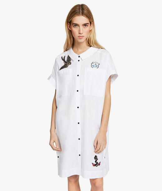 KARL LAGERFELD Captain Karl Patch Shirt Dress 12_f