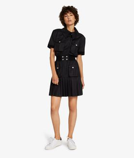 KARL LAGERFELD PLEATED POLO DRESS