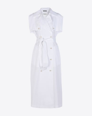 MAISON MARGIELA Long dress D Cotton poplin trench dress f