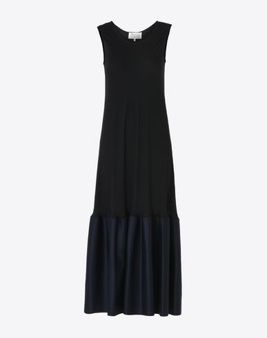 MAISON MARGIELA Long dress D Silk dress with flounced skirt f