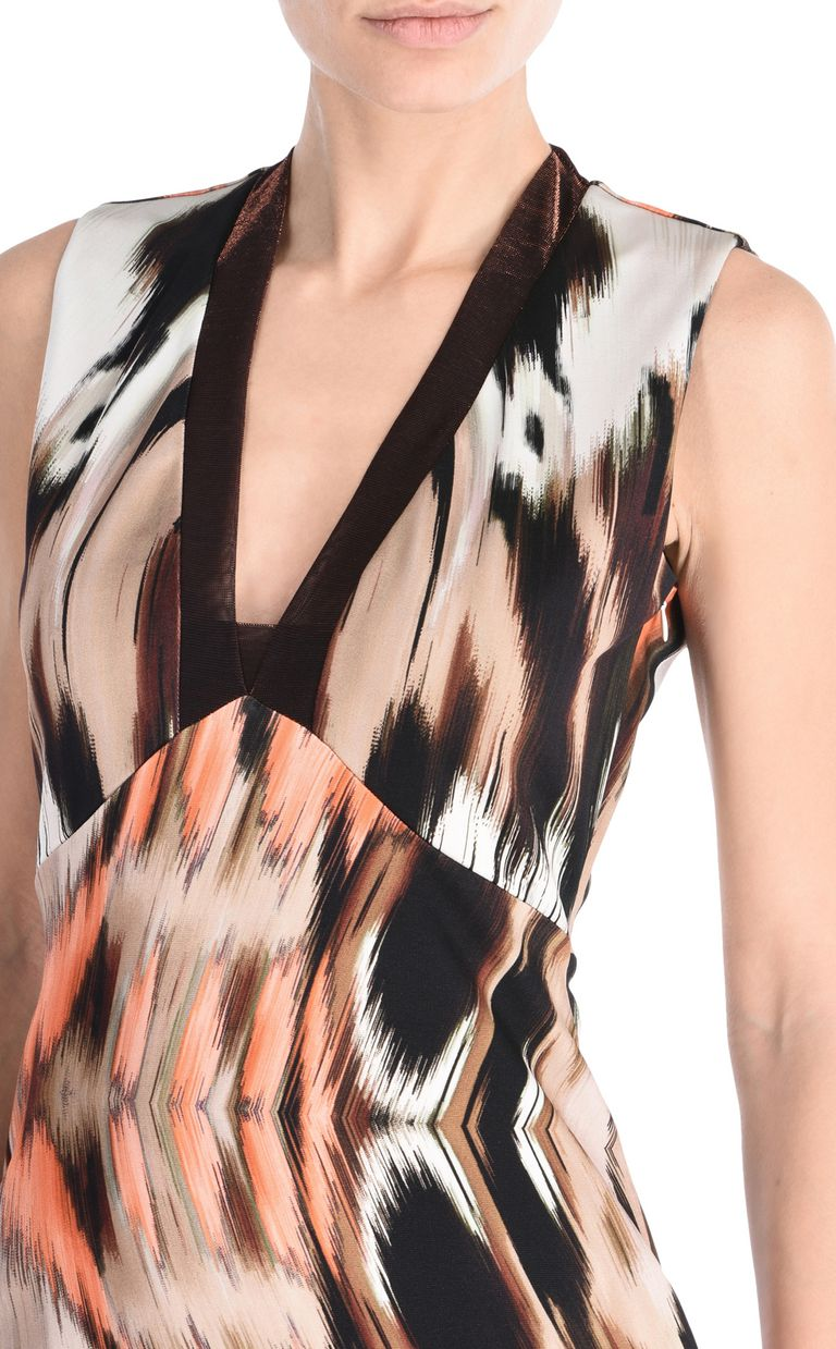 JUST CAVALLI Ikat Butterfly shift dress with wide straps Short dress Woman e