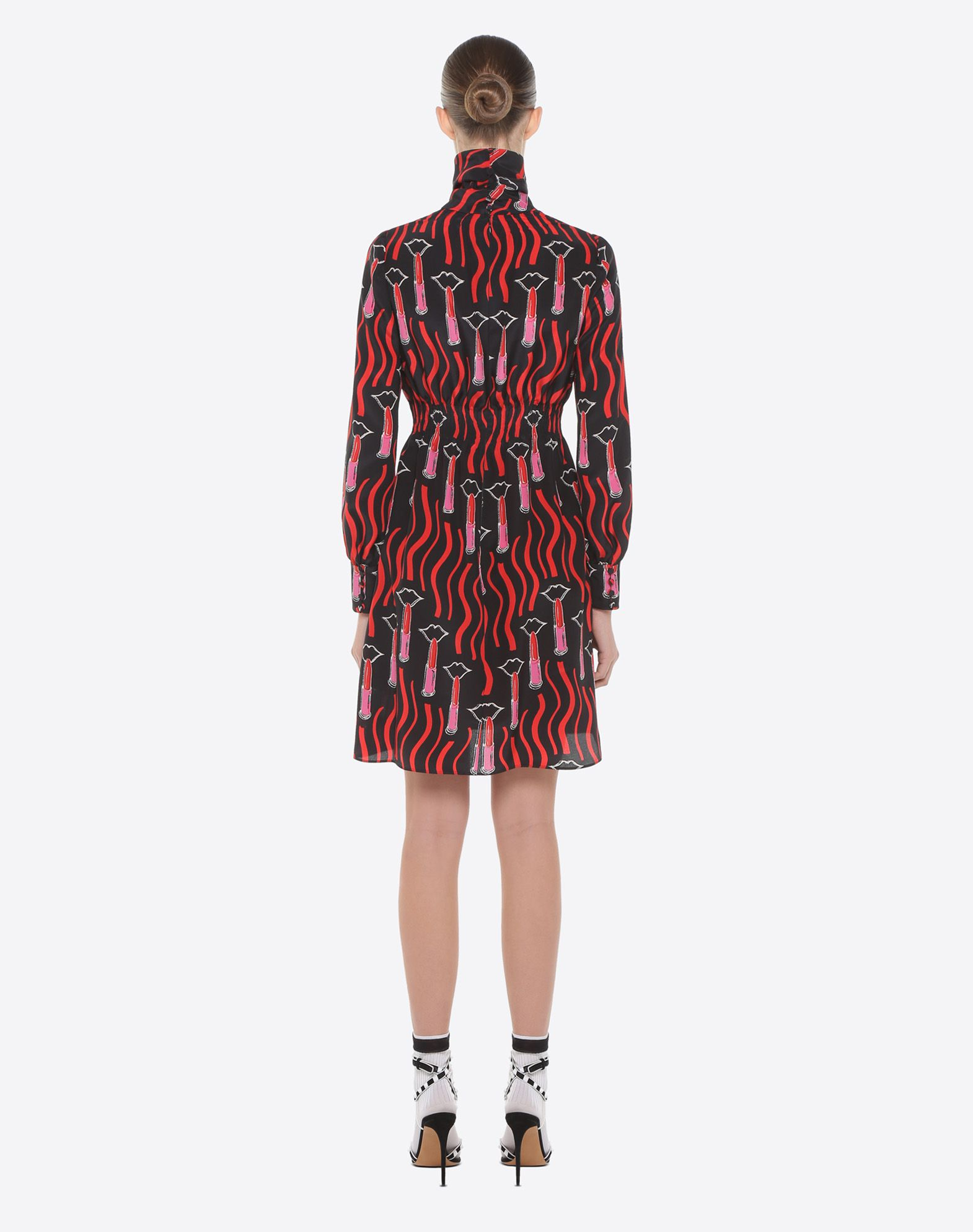 VALENTINO Lipstick Waves print dress Dress D e
