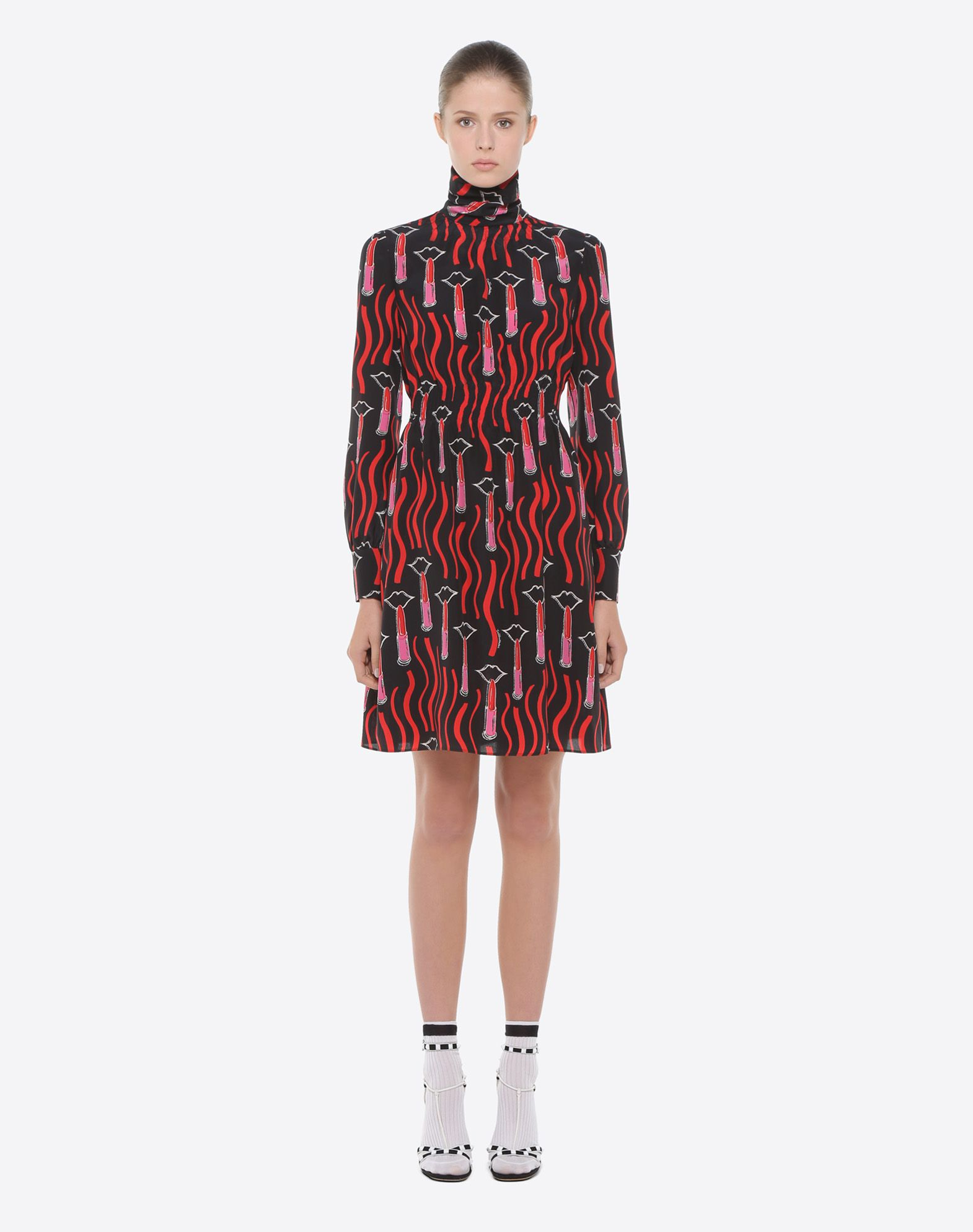 VALENTINO Lipstick Waves print dress Dress D r