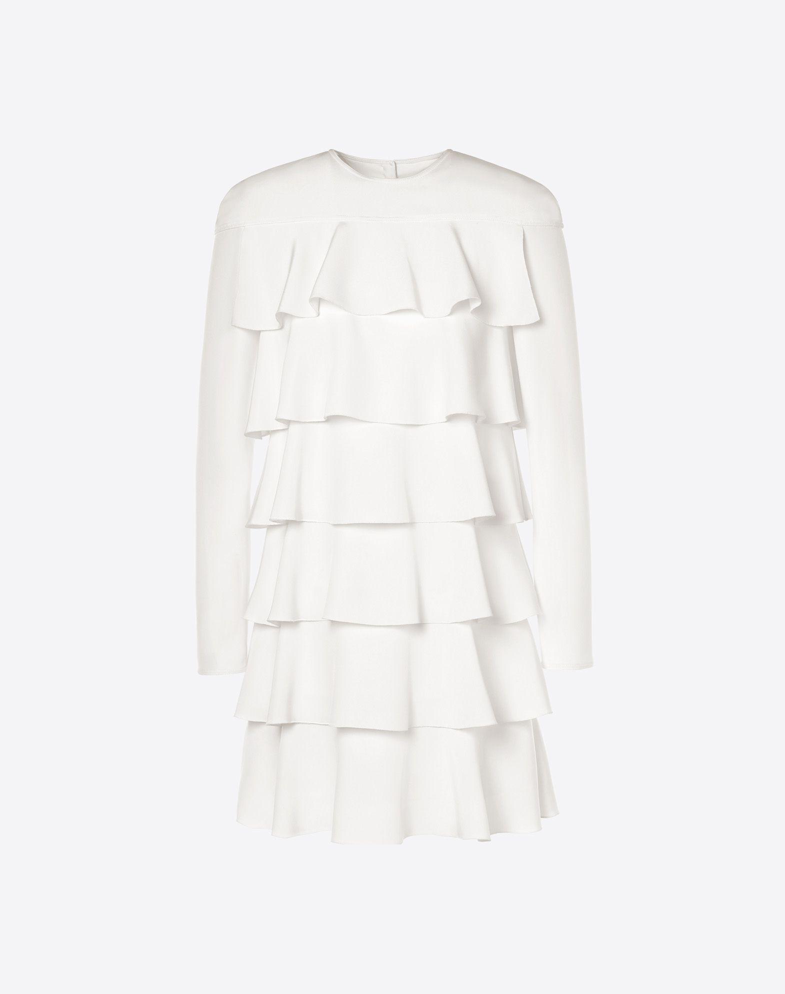 VALENTINO Silk drap dress Dress D f