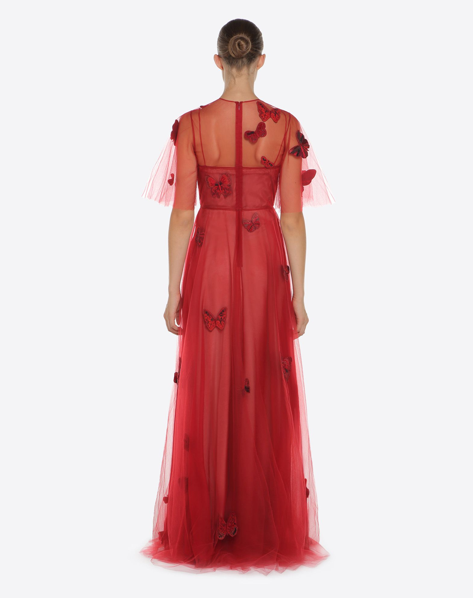 VALENTINO Embroidered tulle evening dress Gown D e
