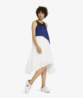 KARL LAGERFELD COLOUR BLOCK PLEATED DRESS