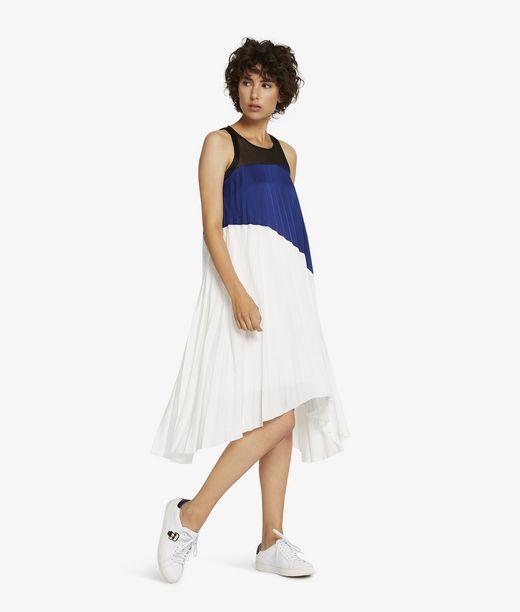 KARL LAGERFELD Color Block Pleated Dress 12_f