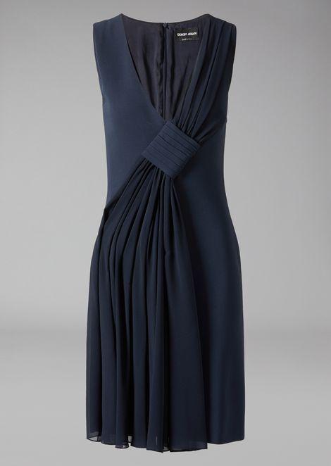 Dress in wool crêpe