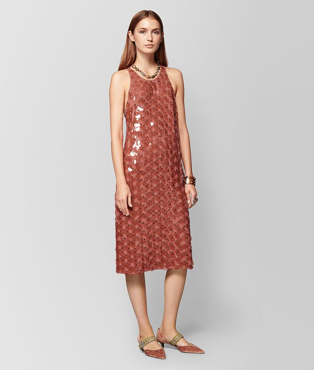 BOTTEGA VENETA DARK HIBISCUS VISCOSE DRESS Dress [*** pickupInStoreShipping_info ***] fp