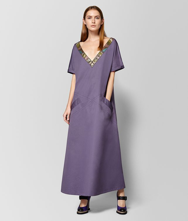 BOTTEGA VENETA DARK LILAC COTTON AYERS DRESS Dress Woman fp