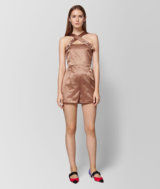 BOTTEGA VENETA PLAYSUIT IN VINTAGE SATIN DAHLIA Abito Donna fp