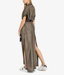 KARL LAGERFELD Silk Maxi Shirt Dress 8_d
