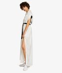 KARL LAGERFELD Silk Maxi Shirt Dress 8_d