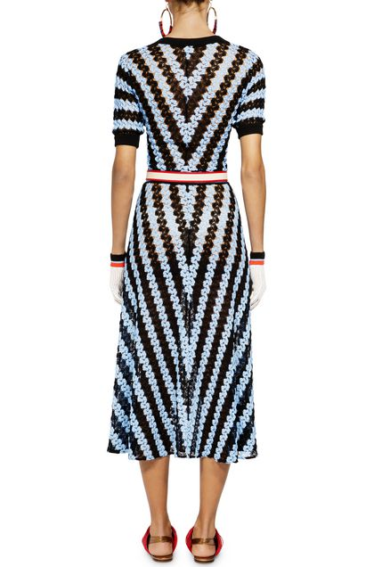 MISSONI Long dress Pastel blue Woman - Front