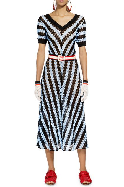 MISSONI Long dress Pastel blue Woman - Back