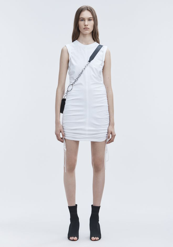 T by ALEXANDER WANG Short Dresses RUCHED SLEEVELESS DRESS