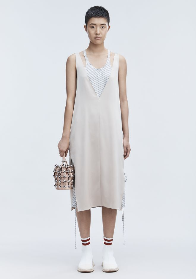 T by ALEXANDER WANG Long dresses SATIN SLEEVELESS DRESS