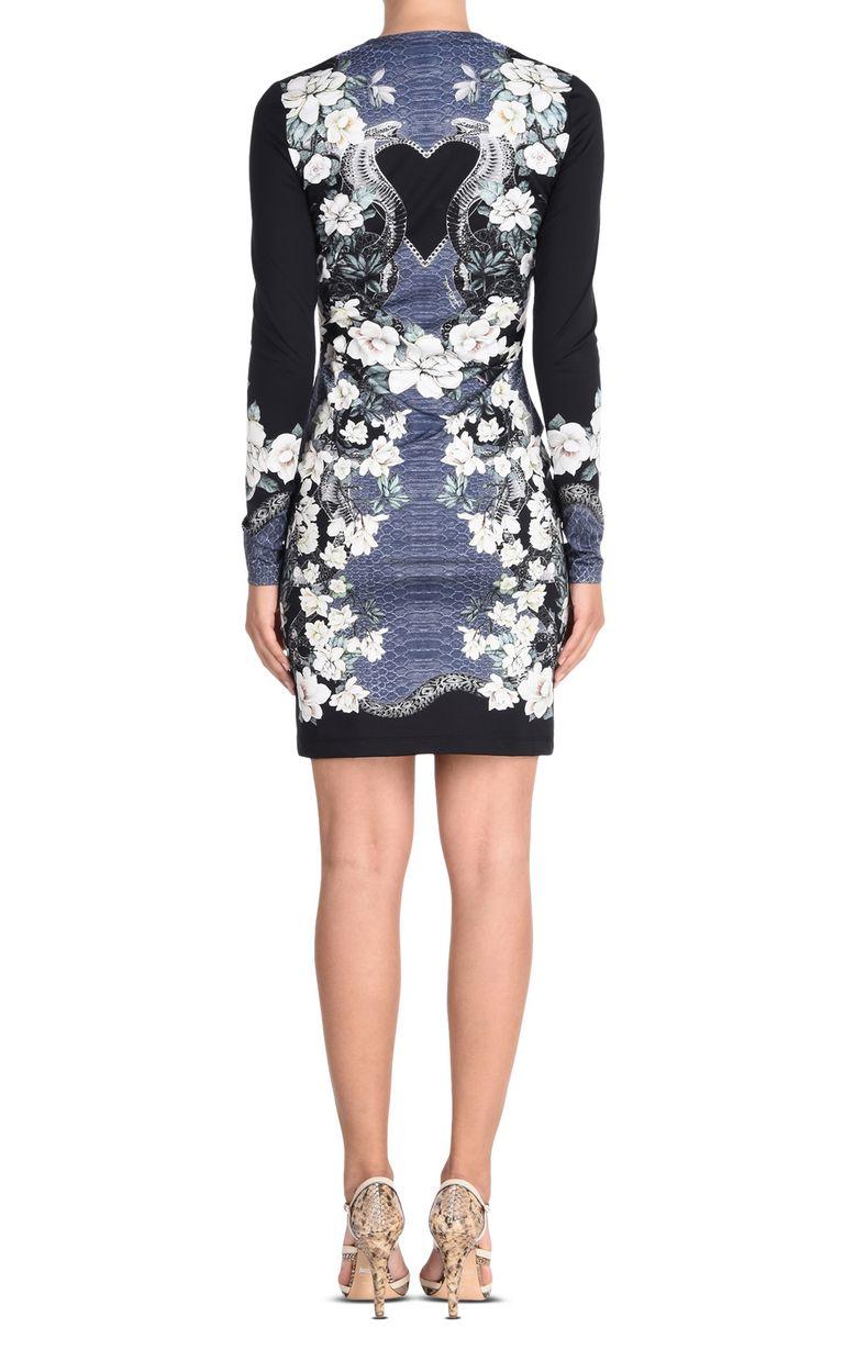 JUST CAVALLI Shift dress in Magnolia of my Heart print Short dress Woman d