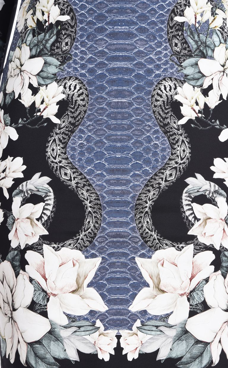 JUST CAVALLI Shift dress in Magnolia of my Heart print Short dress [*** pickupInStoreShipping_info ***] e