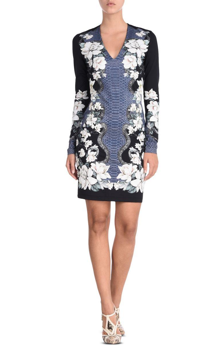 JUST CAVALLI Shift dress in Magnolia of my Heart print Short dress Woman f