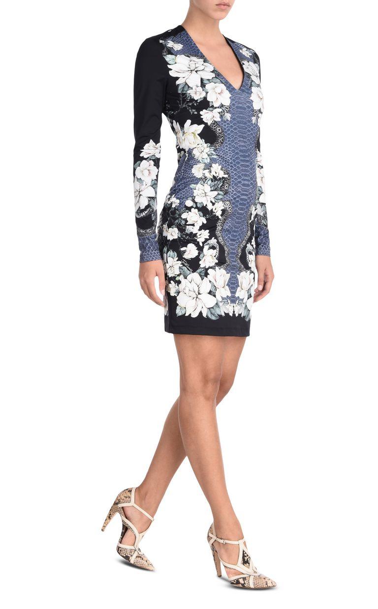 JUST CAVALLI Shift dress in Magnolia of my Heart print Short dress Woman r