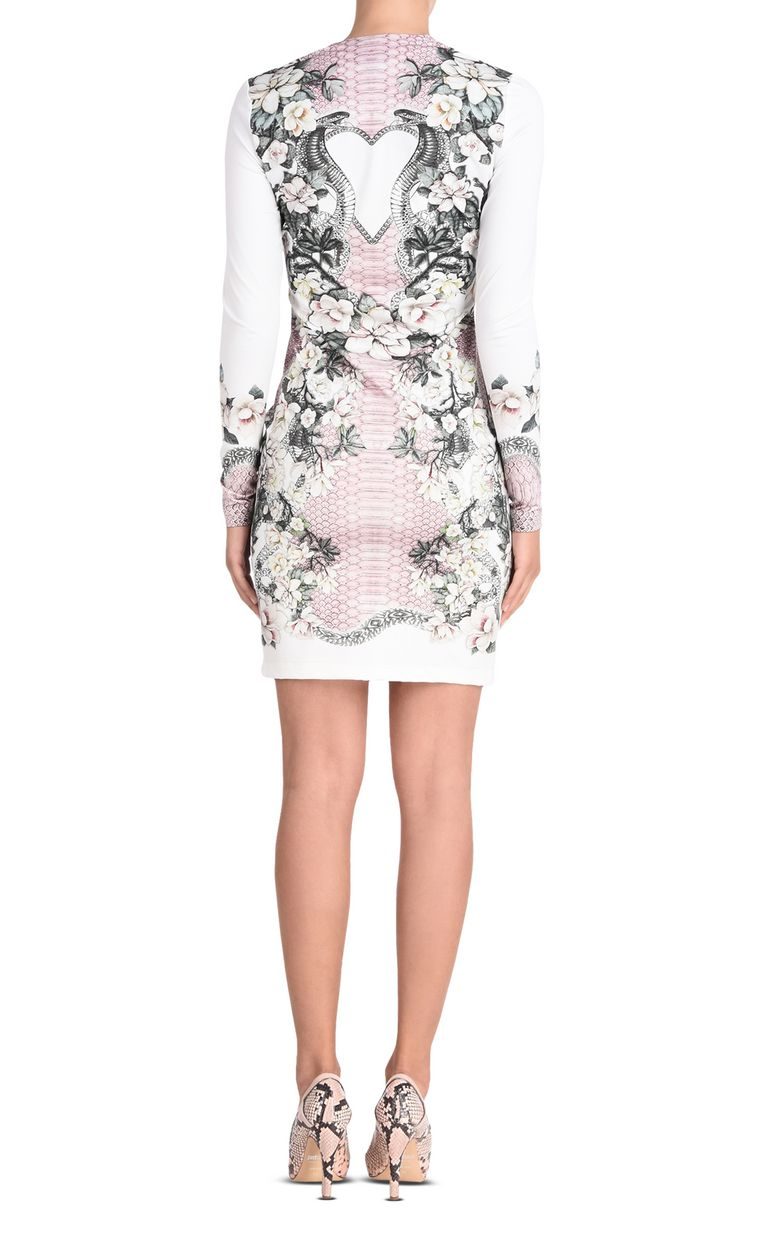 JUST CAVALLI Shift dress in Magnolia of my Heart print Short dress Woman d
