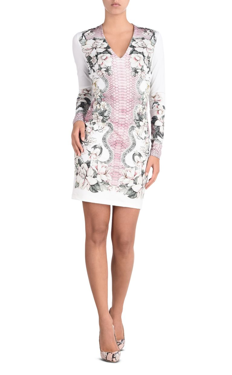 JUST CAVALLI Shift dress in Magnolia of my Heart print Short dress Woman f