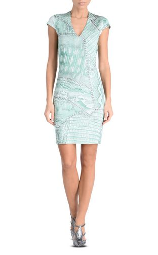 JUST CAVALLI Short dress D Sleeveless Jacquard Crocco shift dress f