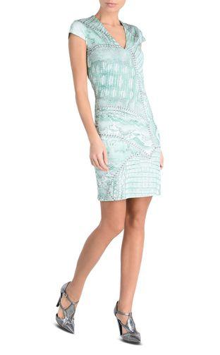 JUST CAVALLI Short dress Woman One-shoulder shift dress r