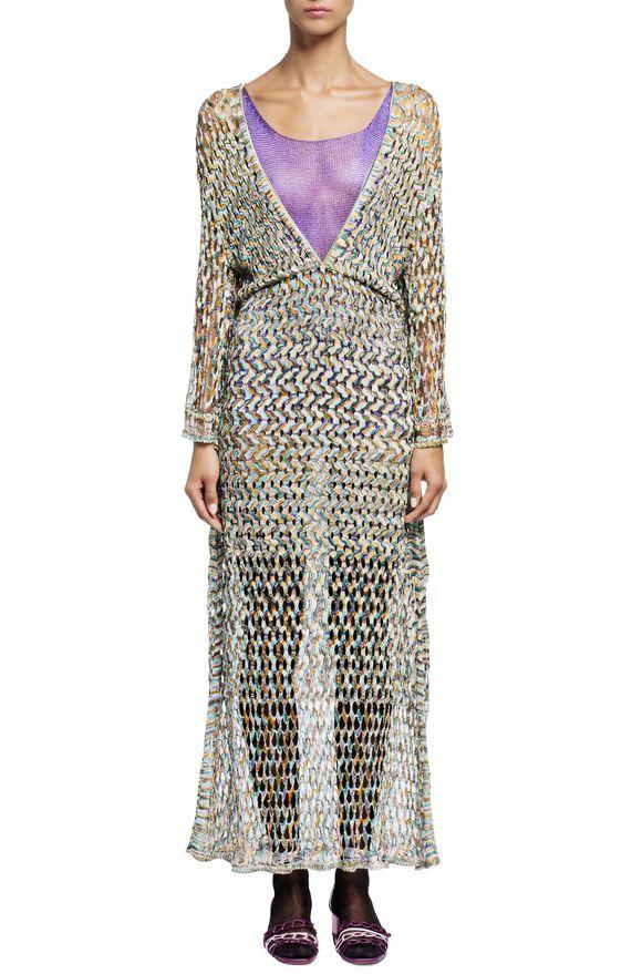 MISSONI Long dress Blue Woman