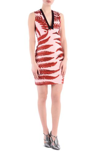 JUST CAVALLI Dress Woman Solid-colour shift dress with teardrop neckline f