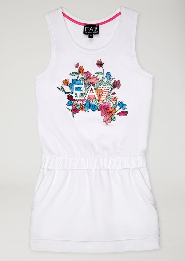 Vestido de punto con estampado de flores | Niña | Ea7