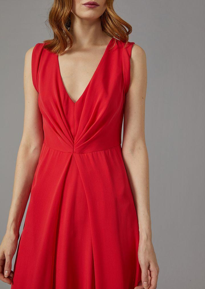 GIORGIO ARMANI Silk dress with gathered detailing Dress Woman a
