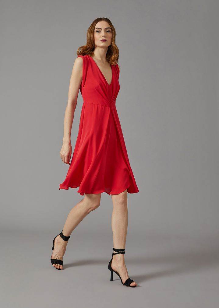 GIORGIO ARMANI Silk dress with gathered detailing Dress Woman d