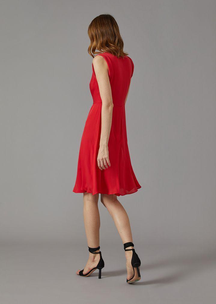 GIORGIO ARMANI Silk dress with gathered detailing Dress Woman e