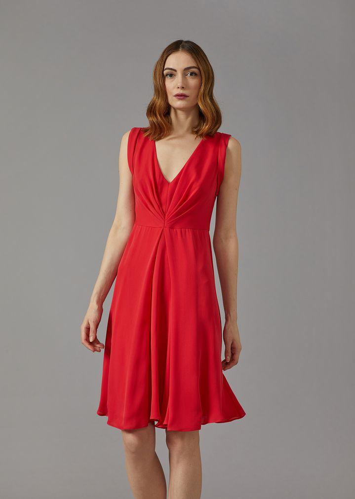 GIORGIO ARMANI Silk dress with gathered detailing Dress Woman f