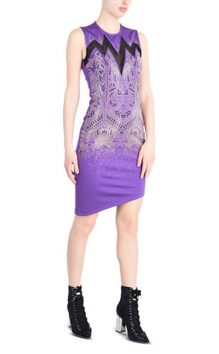 JUST CAVALLI 3/4 length dress Woman Wide-straps shift dress with sequins r