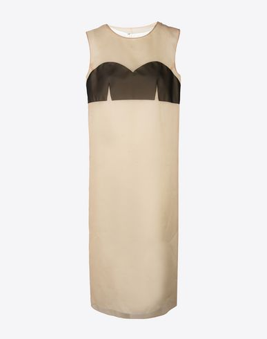 MAISON MARGIELA 3/4 length dress Woman Silk organza shift dress f
