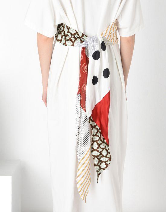 MM6 MAISON MARGIELA Cotton T-shirt dress with contrasting panels Long dress [*** pickupInStoreShipping_info ***] a