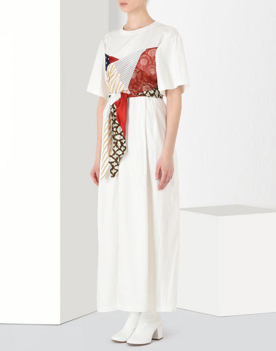 MM6 MAISON MARGIELA Cotton T-shirt dress with contrasting panels Long dress [*** pickupInStoreShipping_info ***] f
