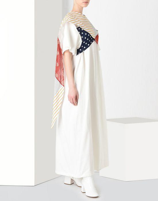MM6 MAISON MARGIELA Cotton T-shirt dress with contrasting panels Long dress [*** pickupInStoreShipping_info ***] r