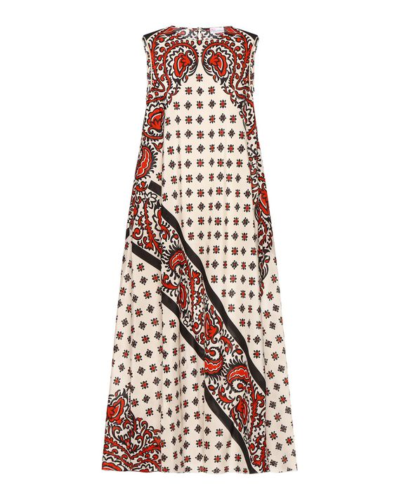f13b40fa4f0 REDValentino Bandana Print Silk Dress - Printed Dress for Women ...